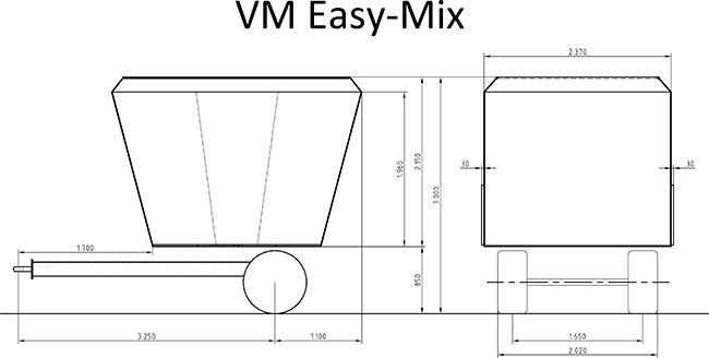 schéma mélangeuse Easy-mix Supertino (COUZON)